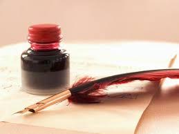 羽ペンとインク