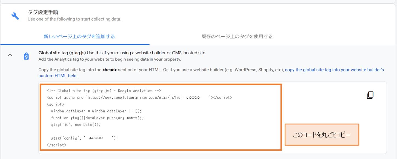 GoogleアナリティクスID設置説明